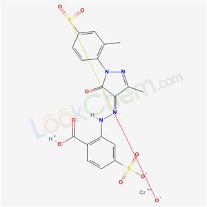 68966-99-4,Chromate(1-), (2-((4,5-dihydro-3-methyl-1-(2-methyl-4-sulfophenyl)-5-oxo-1H-pyrazol-4-yl)azo)-4-sulfobenzoato(4-))-, hydrogen,
