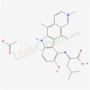 89702-39-6,10-((1-Carboxy-3-methylbutylidene)amino)-9-hydroxy-2,5,11-trimethyl-6H-pyrido(4,3-b)carbazolium acetate (salt),