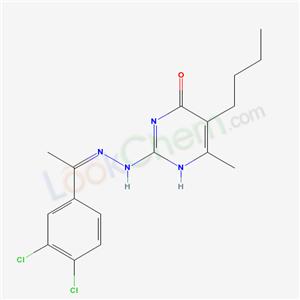 5338-57-8,5-butyl-2-[(2Z)-2-[1-(3,4-dichlorophenyl)ethylidene]hydrazinyl]-6-methyl-1H-pyrimidin-4-one,