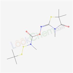 76858-38-3,2,4-Thiazolidinedione, 3,5,5-trimethyl-, 2-(O-((((1,1,-dimethylethyl)dithio)methylamino)carbonyl)oxime),