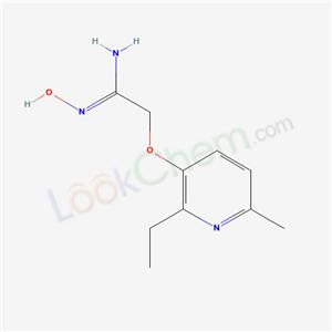 132401-88-8,Ethanimidamide, 2-((2-ethyl-6-methyl-3-pyridinyl)oxy)-N-hydroxy-,