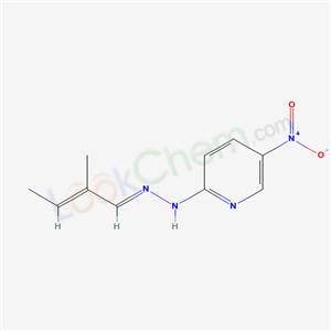 6621-78-9,N-[[(E)-2-methylbut-2-enylidene]amino]-5-nitro-pyridin-2-amine,
