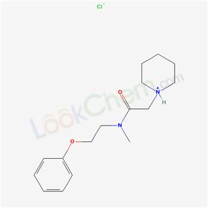 77791-44-7,N-Methyl-N-(2-phenoxyethyl)-2-(piperidino)acetamide hydrochloride,