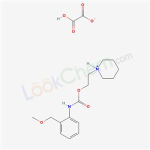 Molecular Structure of 80171-68-2 (o-(Methoxymethyl)carbanilic acid 2-piperidinoethyl ester oxalate (1:1))