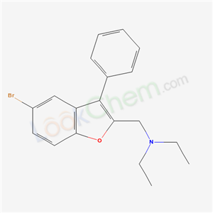 80592-86-5,BENZOFURAN, 5-BROMO-2-(DIETHYLAMINOMETHYL)-3-PHENYL-,