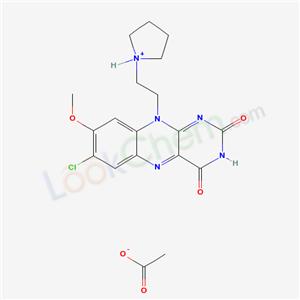 99999-42-5,7-CHLORO-8-METHOXY-10-(2-PYRROLIDINYL-ETHYL)ISOALLOXAZINE ACETATE,