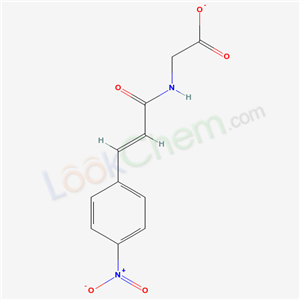 Molecular Structure of 150013-03-9 (Glycine, N-[3-(4-nitrophenyl)-1-oxo-2-propen-1-yl]-, E-)