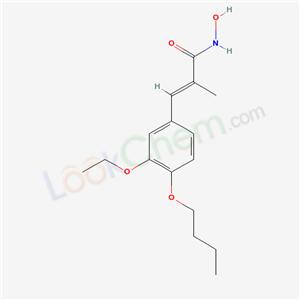 26323-88-6,CINNAMOHYDROXAMIC ACID, 4-BUTOXY-3-ETHOXY-alpha-METHYL-,