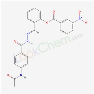 55901-26-3,[2-[(E)-[(4-acetamidobenzoyl)hydrazinylidene]methyl]phenyl] 3-nitrobenzoate,