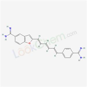 73819-56-4,2-(6-(4-(Aminoiminomethyl)phenyl)-1,3,5-hexatrienyl)-5-benzofurancarboximiamide,