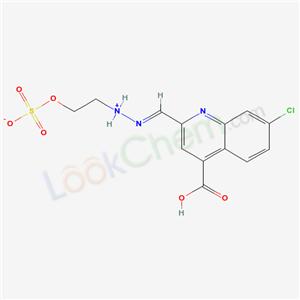 81735-36-6,CINCHONINIC ACID, 7-CHLORO-2-FORMYL-, 2-(2-HYDROXYETHYL)HYDRAZONE, HYDROGENSULFA,