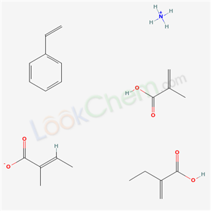 2-PROPENOIC ACID, 2-METHYL-, POLYMER WITH ETHENYLBENZENE, ETHYL 2-PROPENOATE AND METHYL 2-METHYL-2-PROPENOATE, AMMONIUM SALT