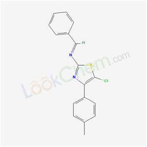 119121-73-2,N-[5-chloro-4-(4-methylphenyl)-1,3-thiazol-2-yl]-1-phenyl-methanimine,