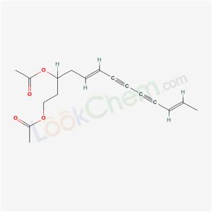 55078-26-7,5,11-Tridecadiene-7,9-diyne-1,3-diol, diacetate,