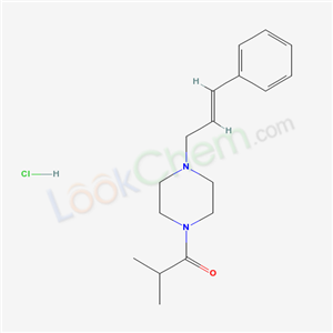 17730-61-9,Piperazine, 1-cinnamyl-4-isobutyryl-, monohydrochloride,