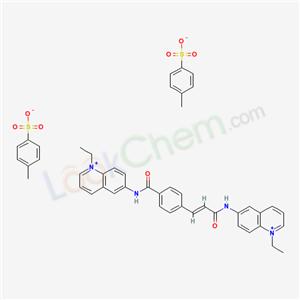 18520-36-0,Quinolinium, 1-ethyl-6-(p-((1-ethylquinolinium-6-yl)carbamoyl)cinnamamido)-, di-p-toluenesulfonate,