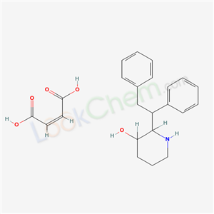 20068-92-2,3-Piperidinol, 2-(1,2-diphenylethyl)-, maleate (1:1) (salt),