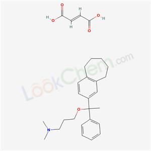 51490-55-2,3-[1-(10-bicyclo[5.4.0]undeca-8,10,12-trienyl)-1-phenyl-ethoxy]-N,N-dimethyl-propan-1-amine; but-2-enedioic acid,