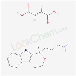 57791-06-7,1-(3-Methylaminopropyl)-1,9-dimethyl-1,3,4,9-tetrahydropyrano(3,4-b)indole maleate,