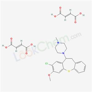 64359-47-3,1-(8-Chloro-10,11-dihydro-7-methoxydibenzo(b,f)thiepin-10-yl)-4-methylpiperazine dimaleate,