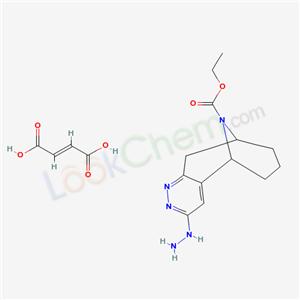 75536-07-1,5,9-Iminocycloocta(c)pyridazine-11-carboxylic acid, 5,6,7,8,9,10-hexahydro-3-hydrazino-, ethyl ester, (E)-2-butenedioate (1:1),