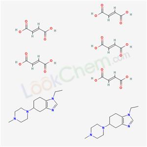 99714-89-3,1H-Benzimidazole, 4,5,6,7-tetrahydro-1-ethyl-5-(4-methyl-1-piperazinyl)-, (E)-2-butenedioate (2:5),