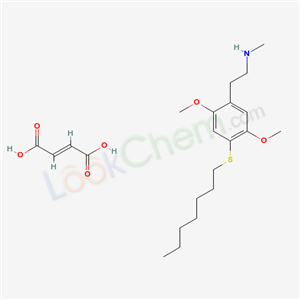 129658-31-7,N-Methyl-2-(4-(heptylthio)-2,5-dimethoxyphenyl)ethylamine maleate,Benzeneethanamine, 2,5-dimethoxy-4-(heptylthio)-N-methyl-, (Z)-2-buten edioate (1:1)
