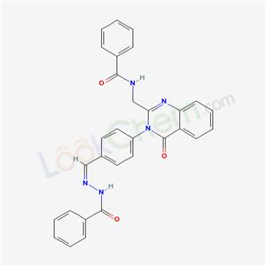 132785-12-7,N-[[4-[2-(benzamidomethyl)-4-oxo-quinazolin-3-yl]phenyl]methylideneamino]benzamide,