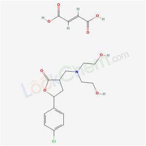 124500-23-8,2(3H)-Furanone, dihydro-3-((bis(2-hydroxyethyl)amino)methyl)-5-(4-chlorophenyl)-, (Z)-2-butenedioate, hydrate (2:2:1) (salt),