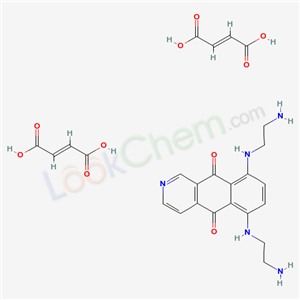 Molecular Structure of 144675-97-8 (Benz(g)isoquinoline-5,10-dione, 6,9-bis((2-aminoethyl)amino)-, (2Z)-2-butenedioate (1:2))