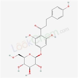 Molecular Structure of 4192-90-9 (1-Propanone,1-[4-(â-D-glucopyranosyloxy)-2,- 6-dihydroxyphenyl]-3-(4-hydroxyphenyl)- )