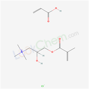 49720-59-4,1-Propanaminium, 2-hydroxy-N,N,N-trimethyl-3-((2-methyl-1-oxo-2-propenyl)oxy)-, chloride, polymer with 2-propenoic acid,