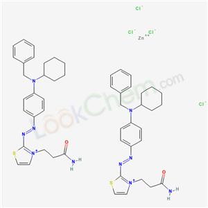 65208-22-2,3-[2-[4-(benzyl-cyclohexyl-amino)phenyl]diazenyl-1-thia-3-azoniacyclopenta-2,4-dien-3-yl]propanamide; zinc(+2) cation; tetrachloride,
