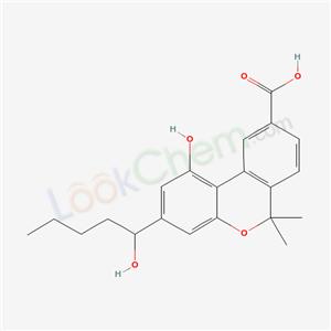 66280-04-4,6H-Dibenzo(b,d)pyran-9-carboxylic acid, 1-hydroxy-3-(1-hydroxypentyl)-6,6-dimethyl-,