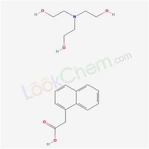 2-(bis(2-hydroxyethyl)amino)ethanol; 2-naphthalen-1-ylacetic acid