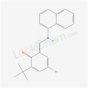4263-63-2,4-bromo-6-[(naphthalen-1-ylamino)methylidene]-2-tert-butyl-cyclohexa-2,4-dien-1-one,