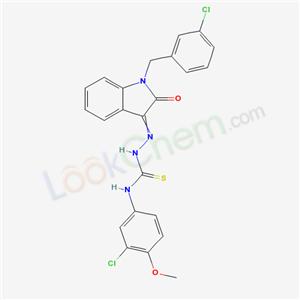 6805-20-5,3-(3-chloro-4-methoxy-phenyl)-1-[[1-[(3-chlorophenyl)methyl]-2-oxo-indol-3-ylidene]amino]thiourea,