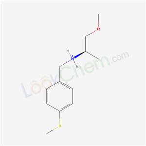 436099-59-1,[(2R)-1-methoxypropan-2-yl]-[(4-methylsulfanylphenyl)methyl]azanium,(2-METHOXY-1-METHYL-ETHYL)-(4-METHYLSULFANYL-BENZYL)-AMINE;AKOS B023234;ART-CHEM-BB B023234;CHEMBRDG-BB 5543903;TIMTEC-BB SBB007244