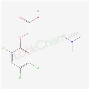 CAS NO:6369-96-6 trimethylammonium 2,4,5-trichlorophenoxyacetate Molecular Structure