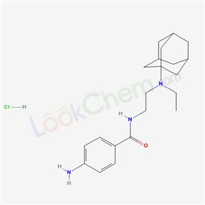 34969-15-8,N-[2-(1-adamantyl-ethyl-amino)ethyl]-4-amino-benzamide hydrochloride,