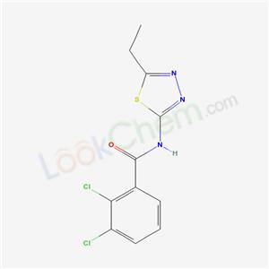 6167-72-2,2,3-dichloro-N-(5-ethyl-1,3,4-thiadiazol-2-yl)benzamide,