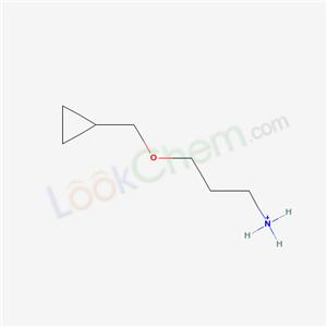 2986-60-9,3-(Cyclopropylmethoxy)propylazanium,3-(Cyclopropylmethoxy)propan-1-aminium;