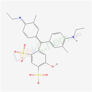 Toluene-2,4-disulfonic acid, {.alpha.-[4-(ethylamino)-m-tolyl]-.alpha.-[4-(ethylimino)-3-methyl-} 2,5-cyclohexadien-1-ylidene]-5-hydroxy-, monosodium salt