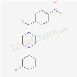 5354-25-6,[4-(3-chlorophenyl)piperazin-1-yl]-(4-nitrophenyl)methanone,