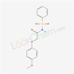 5617-08-3,N-(benzenesulfonyl)-2-(4-methoxyphenoxy)acetamide,