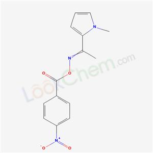 5872-37-7,[1-(1-methylpyrrol-2-yl)ethylideneamino] 4-nitrobenzoate,
