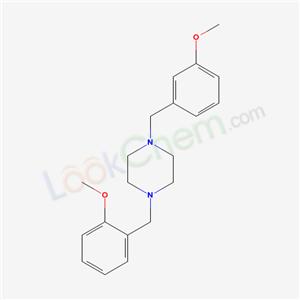 5863-52-5,1-[(2-methoxyphenyl)methyl]-4-[(3-methoxyphenyl)methyl]piperazine,