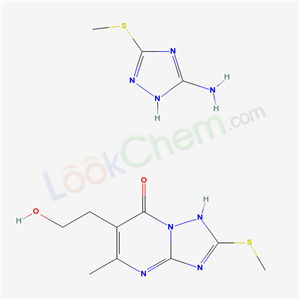 4734-27-4,s-Triazolo(1,5-a)pyrimidine-6-ethanol, 7-hydroxy-5-methyl-2-(methylthio)-, compd. with 3-amino-5-(methylthio)-s-triazole (1:1),