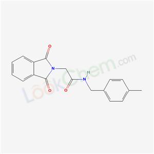 6120-34-9,2-(1,3-dioxoisoindol-2-yl)-N-[(4-methylphenyl)methyl]acetamide,