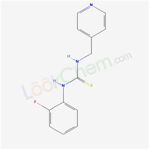 6526-84-7,3-(2-fluorophenyl)-1-(pyridin-4-ylmethyl)thiourea,